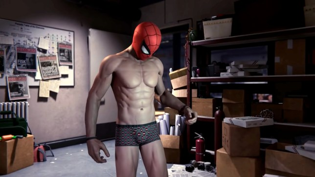 Spider-Man's nipples in a game