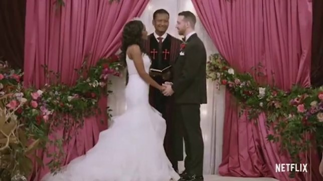 Cameron and Lauren's wedding vows picture: NETFLIX METROGRAB