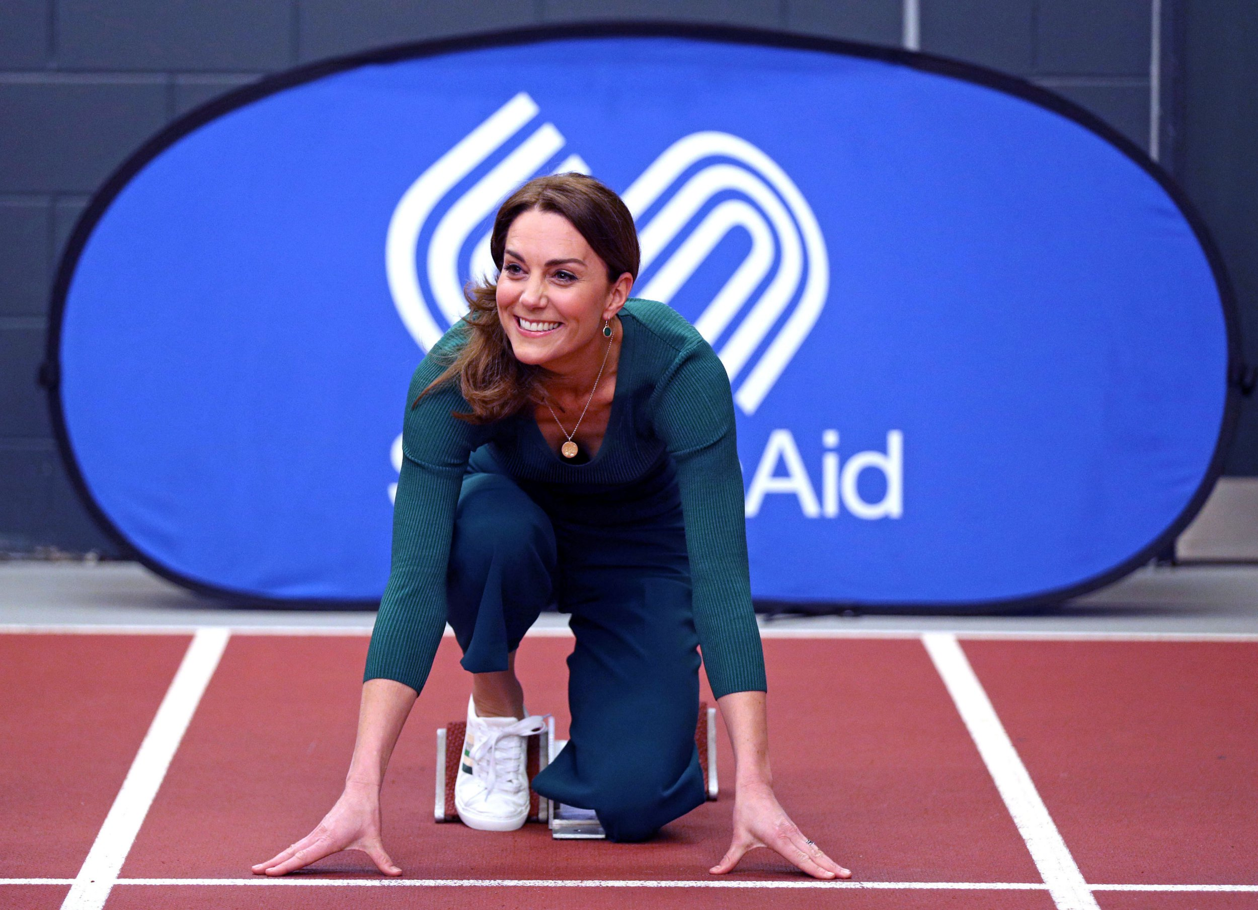 Kate Middleton wears £30 M\u0026S trainers