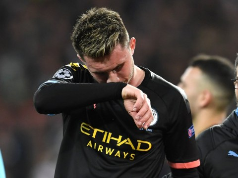 Aymeric Laporte fights back tears after being forced off during Manchester City's Champions League clash against Real Madrid