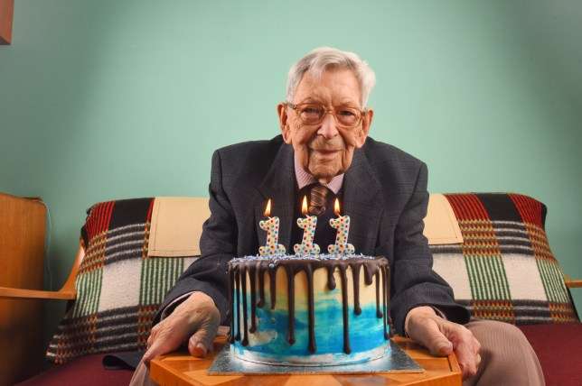 "Mandatory Credit: Photo by Solent News/REX (10181467b) Bob Weighton with his Dr. Oetker birthday cake Britain's oldest man celebrates 111th birthday, Alton, Hampshire, UK - 29 Mar 2019 *Full story: https://www.rexfeatures.com/nanolink/uojn Britain's oldest man celebrates his 111th birthday tomorrow - receiving an incredible lemon drizzle cake, his favourite type, to mark the occasion. Centenarian Bob Weighton said the cake, which is covered in dripping chocolate and adorned with three ones to mark his age, was a welcome change from just receiving birthday cards. The bespoke cake was gifted to him birthday cake gifted to him by popular baking company Dr. Oetker. Bob, of Alton, Hants, said: ""I was so happy when Dr.Oetker got in touch and said that they wanted to bake me a cake. It?s always nice when someone thinks of you on your special day. ?I always look forward to birthdays, they bring loved ones together, as they sit around the table, laughing and enjoying each other?s company while having a slice of cake.?"