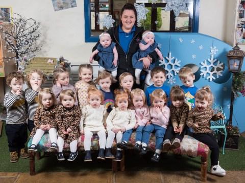 Nine sets of twins enrol at the same nursery school