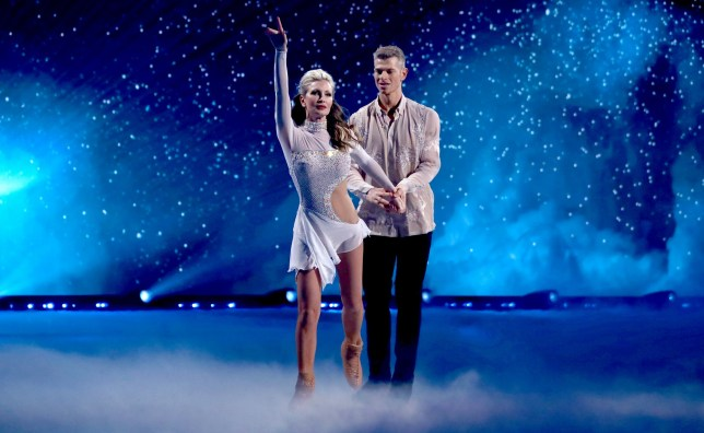 caprice bourret and hamish gaman on dancing on ice
