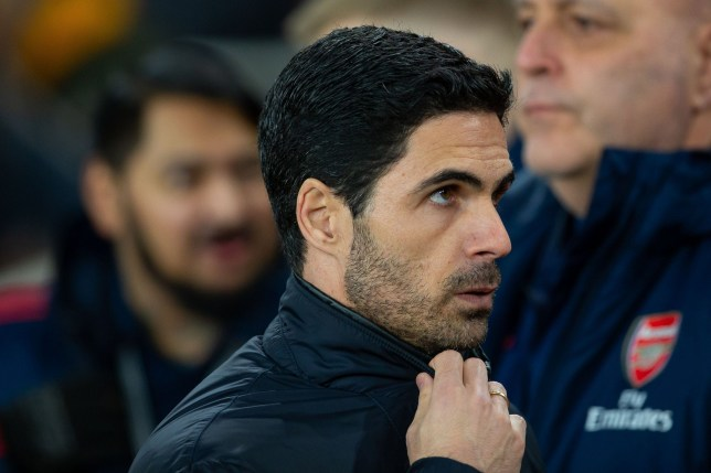 Mikel Arteta is pictured during an Arsenal game
