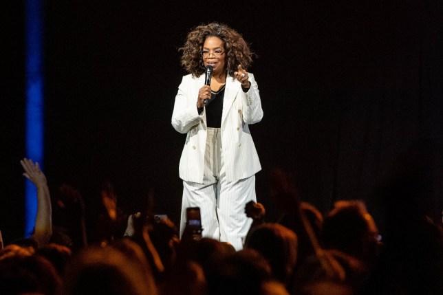 Oprah speaks onstage during 'Oprah's 2020 Vision: