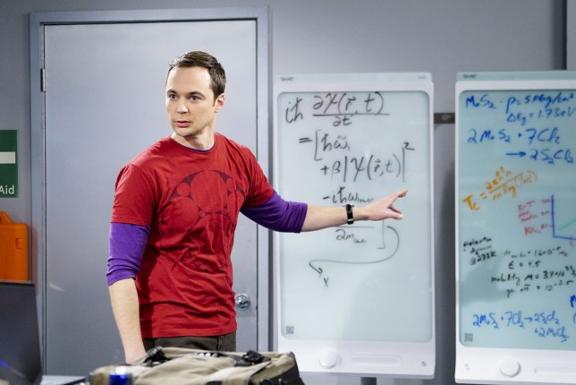 """LOS ANGELES - JANUARY 16: """"The Locomotion Reverberation""""-- Pictured: Sheldon Cooper (Jim Parsons). Leonard and Wolowitz try to distract Sheldon when he slows the progress of their guidance system. Also, Penny and Amy take Bernadette out for the night, leaving Raj and Stuart to care for baby Halley, on THE BIG BANG THEORY, Thursday, Feb. 9 (8:00-8:31 PM, ET/PT), on the CBS Television Network. Dean Norris returns as Colonel Williams. (Photo by Sonja Flemming/CBS via Getty Images)"""