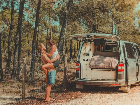 Couple quit their jobs and give up renting to travel Europe in a renovated van