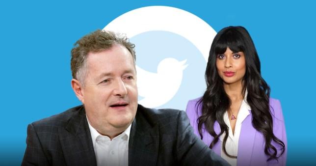 Piers Morgan responds after Jameela Jamil blocks him on Twitter