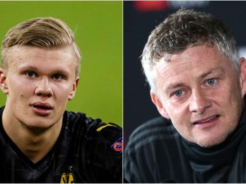 Ole Gunnar Solskjaer sends message to former Man Utd target Erling Haaland over Champions League records