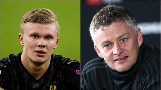 Ole Gunnar Solskjaer says he is 'delighted' for former Man Utd target Erling Haaland