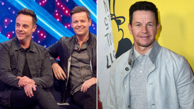 Ant and Dec and Mark Wahlberg
