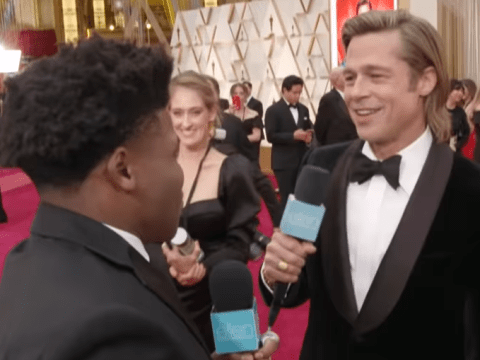 Brad Pitt's excitement at meeting Cheer's Jerry Harris on the Oscars red carpet is way too pure