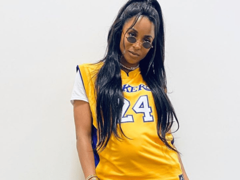 Ciara wears Kobe Bryant jersey over her baby bump at Super Bowl in subtle tribute