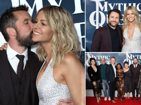 It's Always Sunny In Philadelphia cast support Rob McElhenney at Mythic Quest premiere