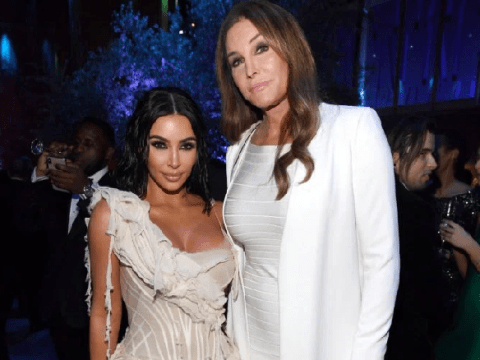Kim Kardashian and Caitlyn Jenner all smiles and hugs as they reunite at Vanity Fair Oscars party