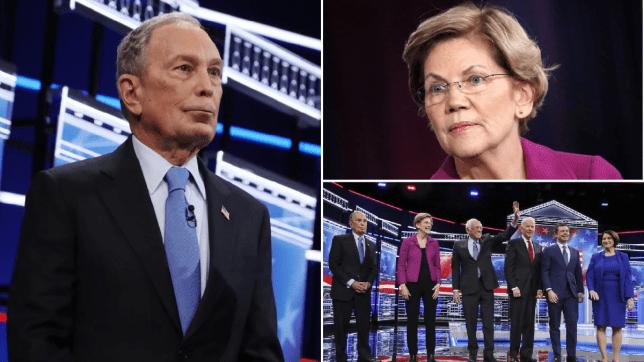 Bloomberg, Warren, debate