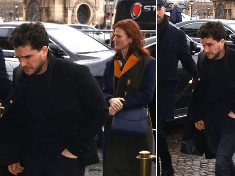 Game of Thrones' Kit Harington keeps head down on rare outing with wife Rose Leslie