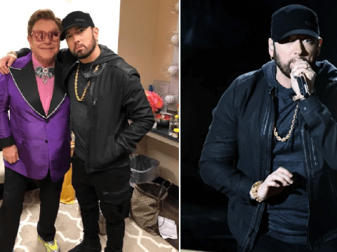 Eminem reunites with 'uncle' Elton John at the Oscars 19 years after iconic Stan performance