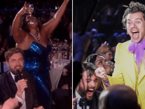 Brit Awards 2020: Harry Styles' reaction to Lizzo necking a wine glass of tequila is a whole mood