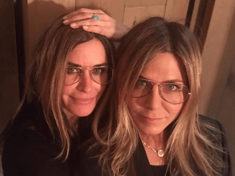 Jennifer Aniston and Courteney Cox are twinning with matching hair and glasses amid Friends reunion news