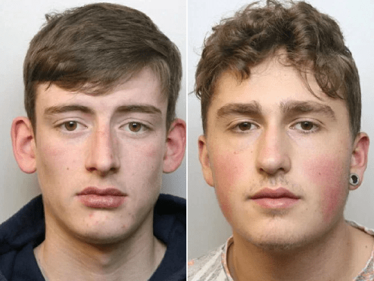 John Callis-Woolsey (left) and Kyle Cullan have both been jailed (Picture: SWNS)
