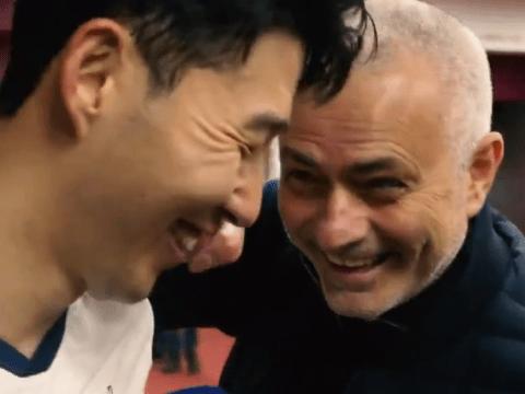 Jose Mourinho interrupts Son Heung-min's interview to mock him after Tottenham beat Aston Villa