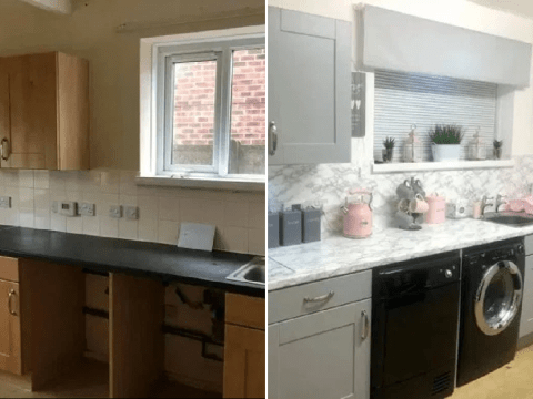 Woman told kitchen transformation would cost £650 does it herself for £27