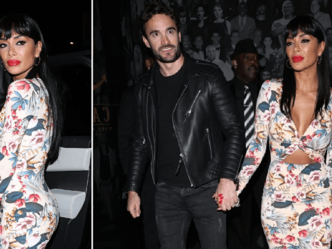 Nicole Scherzinger is a Valentine's bombshell as she steps out for date with boyfriend Thom Evans