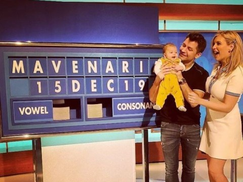 Rachel Riley returns to Countdown and brings baby Maven with her
