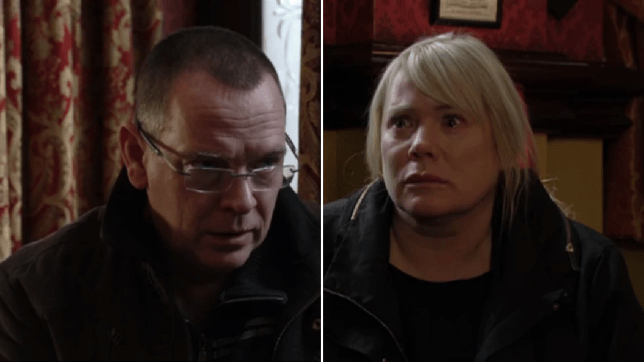 Ian and Sharon in EastEnders