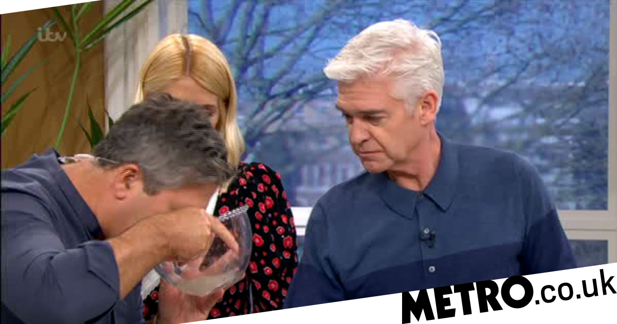 Phillip and Holly grossed out as John Torode serves up 'gone-off coconut'