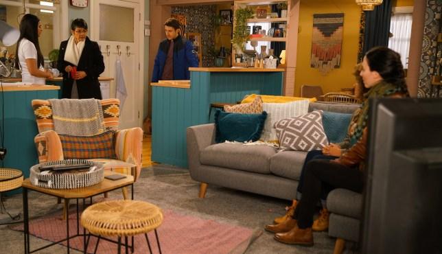 Yasmeen, Alya and Ryan in Coronation Street