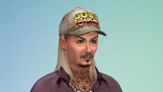 Joe Exotic in The Sims 4