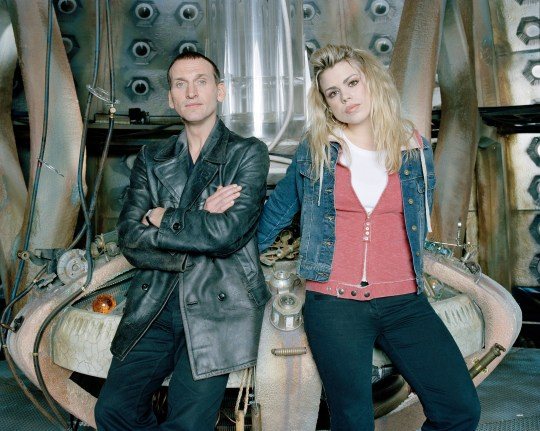 Doctor Who's Christopher Ecclestone and Rose