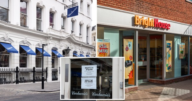 Carluccio's and BrightHouse collapse as a result of coronavirus lockdown