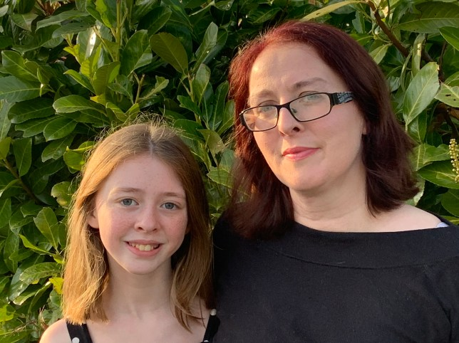 Catherine and daughter Sophie, who has autism