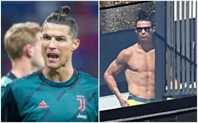 Cristiano Ronaldo has returned to Portugal after the season was halted