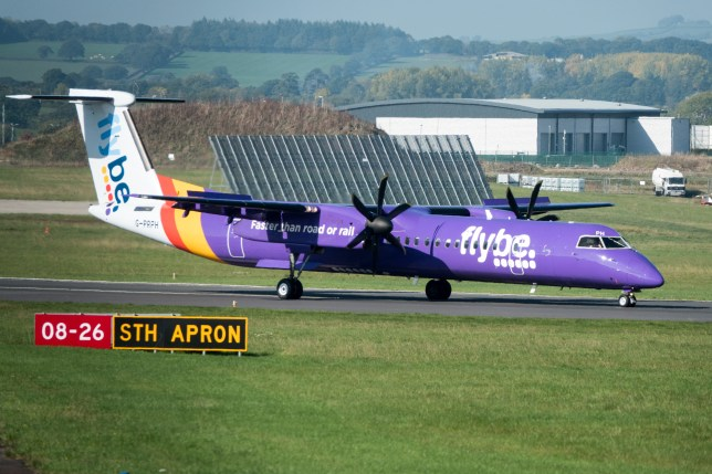 An aircraft operated by the airline Flybe.