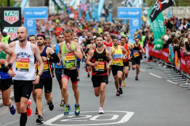 Runners during the 2019 london marathon