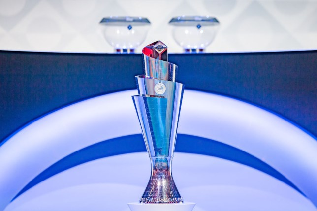 General view UEFA Nations League Trophy during the OthersUEFA Nations League draw at the Beurs van Berlage on March 3, 2020 in Amsterdam Netherlands