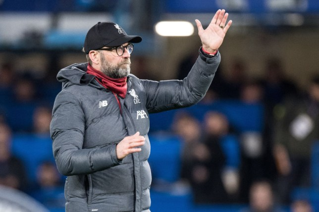 LONDON, ENGLAND - MARCH 03: manager Jurgen Klopp of Liverpool FC gestures during the FA Cup Fifth Round match between Chelsea FC and Liverpool FC at Stamford Bridge on March 3, 2020 in London, England. (Photo by Sebastian Frej/MB Media/Getty Images)
