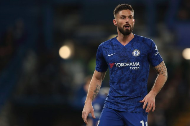 LONDON, ENGLAND - MARCH 03: Olivier Giroud of Chelsea during the FA Cup Fifth Round match between Chelsea FC and Liverpool FC at Stamford Bridge on March 3, 2020 in London, England. (Photo by James Williamson - AMA/Getty Images)