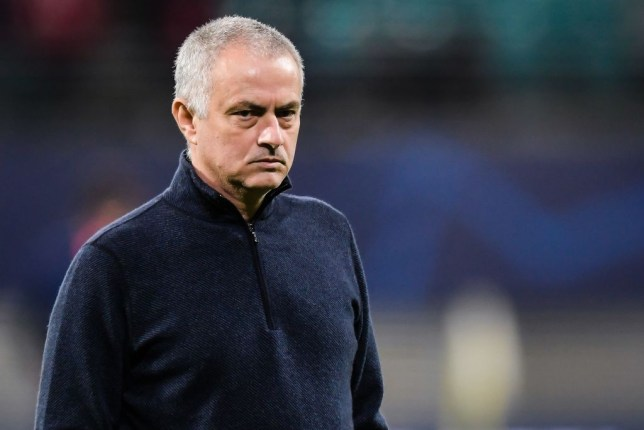 coach Jose Mourinho of Tottenham Hotspur FC during the UEFA Champions League round of 16 second leg match between Red Bull Leipzig and Tottenham Hotspur FC at the Red Bull Arena on March 10, 2020 in Leipzig, Germany(Photo by ANP Sport via Getty Images)