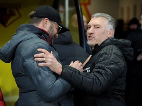 Nigel Pearson reveals conversation with Jurgen Klopp after Watford ended Liverpool's unbeaten run