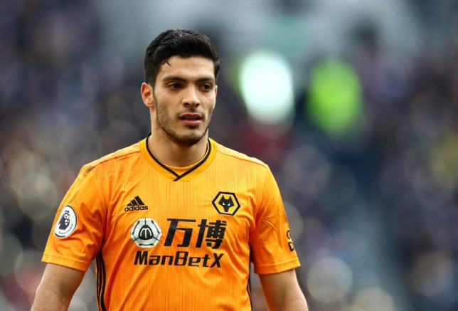 LONDON, ENGLAND - MARCH 01: Raul Jimenez of Wolverhampton Wanderers  during the Premier League match between Tottenham Hotspur and Wolverhampton Wanderers at Tottenham Hotspur Stadium on March 01, 2020 in London, United Kingdom. (Photo by Chloe Knott - Danehouse/Getty Images)