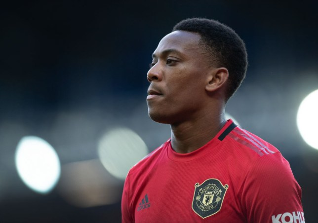 Anthony Martial during Manchester United's Premier League clash with Everton