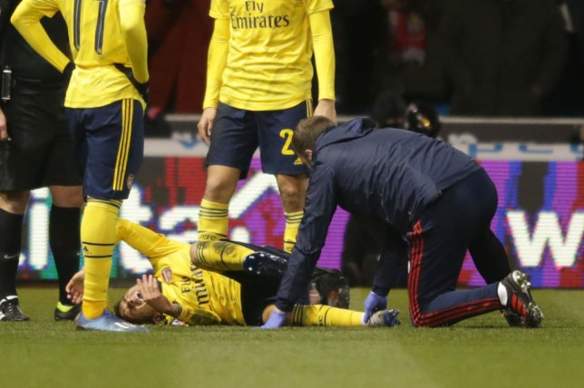 Lucas Torreira was in agony (Picture: Getty)