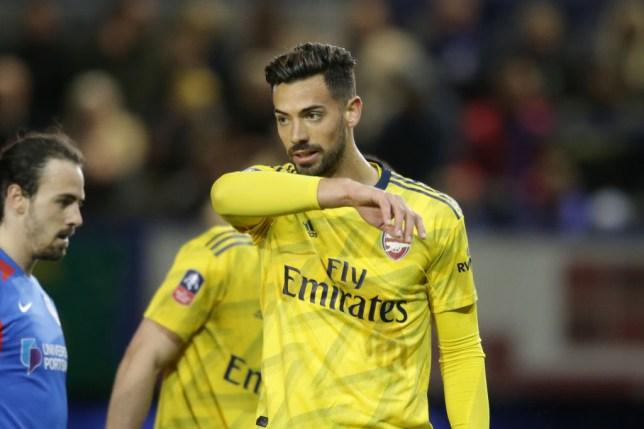 Arsenal defender Pablo Mari against Portsmouth