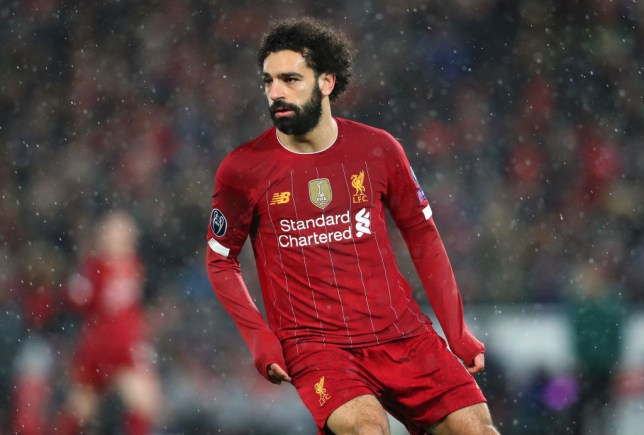 LIVERPOOL, ENGLAND - MARCH 11:  Mohamed Salah of Liverpool looks on during the UEFA Champions League round of 16 second leg match between Liverpool FC and Atletico Madrid at Anfield on March 11, 2020 in Liverpool, United Kingdom. (Photo by Alex Livesey - Danehouse/Getty Images)