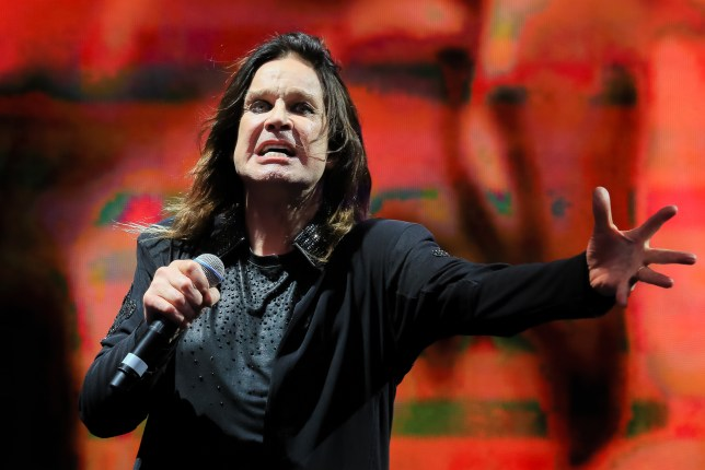 Ozzy Osbourne performing on stage